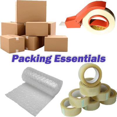Packing materials to be kept handy