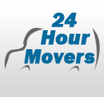 24 Hour Movers logo