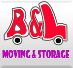 B & L Moving & Storage logo
