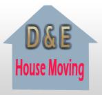 D & E House Moving logo