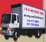 J AND B Movers logo